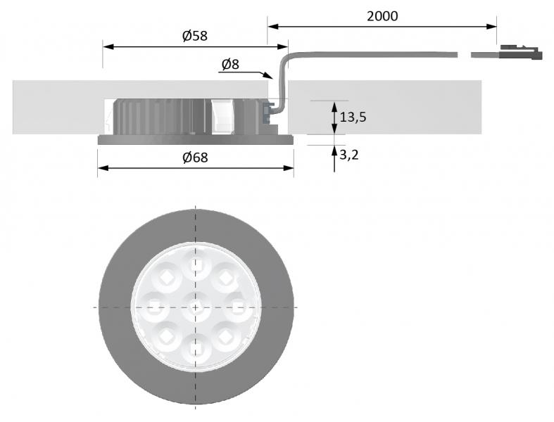 <p class=v2ikealt>LED-kohtvalgusti MultiLite Flood joonis</p>