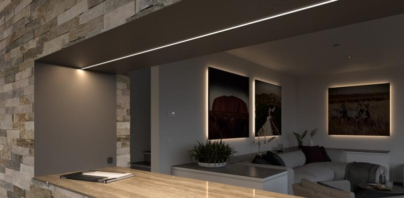 <p class=v2ikealt>LED-valgusriba ChannelLine näidislahendus</p>