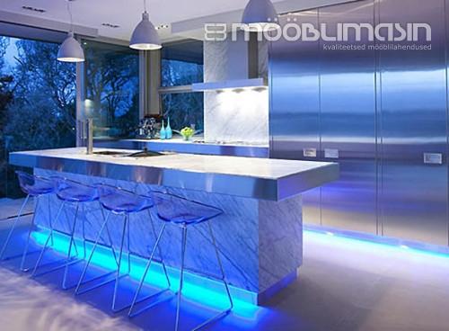 Hubane köögimööbli valgustus